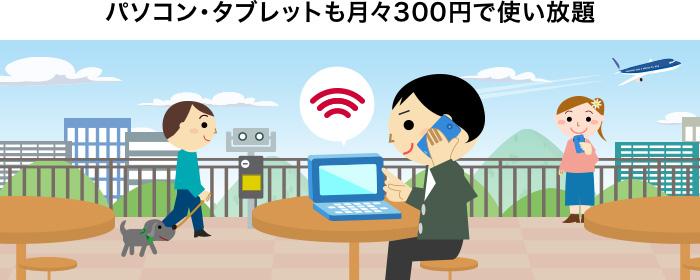 docomo Wi-Fi月額300円プラン
