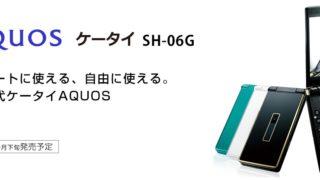 AQUOS ケータイ SH-06G
